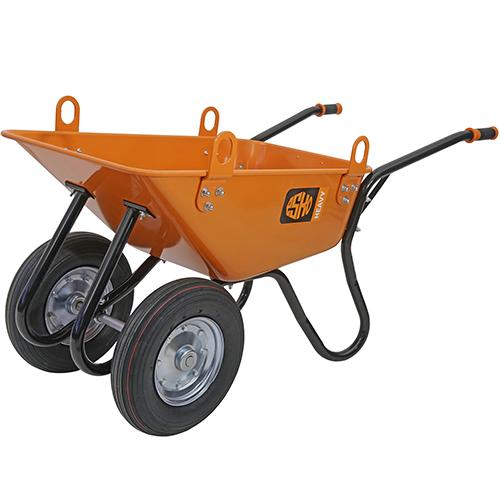 Kottikärry ESKO heavy 350/120L nostokorvilla ilmakumipyörillä tai puhkeamattomilla renkailla